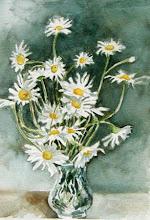 Photo: Daisies Won't Tell . watercolor . 8 x 10