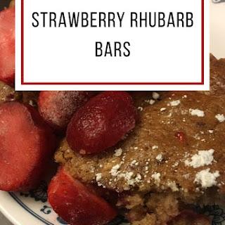 Rhubarb Strawberry Bars.