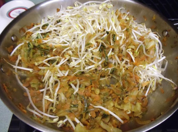 Add bean sprouts; turn off heat and cover.  Let cool and refrigerate overnight.