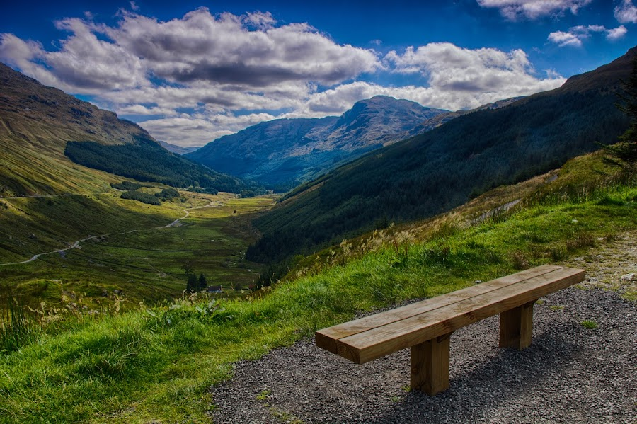 Rest and be thankful by Alan Caldwell - Landscapes Mountains & Hills ( scotland, mountains, thankful, arrochar, valley, rest )