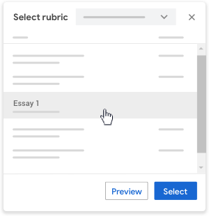 Select a rubric