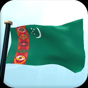 Turkmenistan Flag 3D Wallpaper