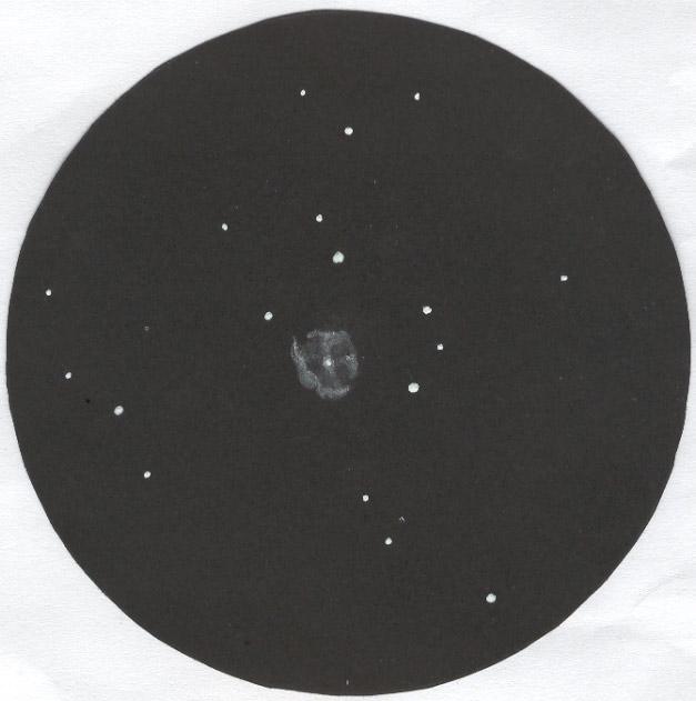 Photo: NGC6905 vue dans le T406 à 250X, le 8 août 2007