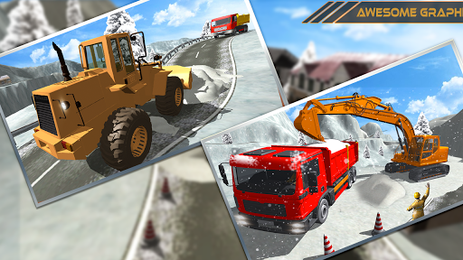 Snow Excavator Dredge Simulator - Rescue Game screenshot 8