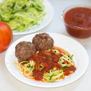 Beef Meatballs & Zucchini Spaghetti