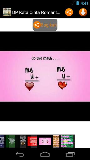 DP Kata Cinta Romantis