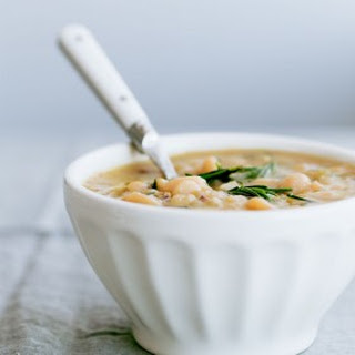 Slow Cooker Cannellini Bean Soup with Fresh Rosemary