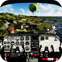 Pilot in Airplane Boeing Sim icon