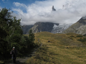 Photo: ... leaving the Aiguille Noir behind.