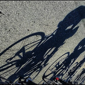 Synergized by Matthew Miller - Black & White Sports ( cycling, composition, symmetry, road, synergy )