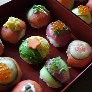 Temari Sushi with Smoked Salmon