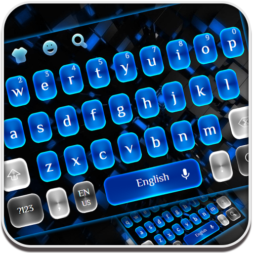 Blue Black Keyboard