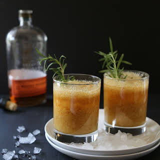Peach-Rosemary Bourbon Sparkler.