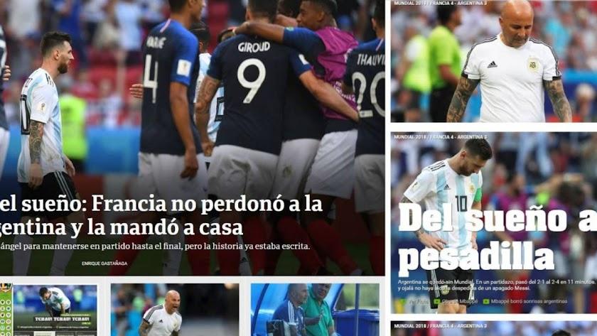 """La prensa, muy dura: """"El Mundial en el que Leo Messi no estuvo..."""""""