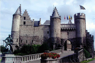 Photo: We boarded the ship in Antwerp, Belgium. We saw a castle...