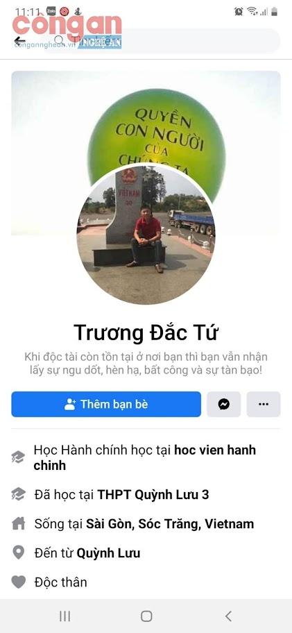 Trang cá nhân của Trương Đắc Tứ