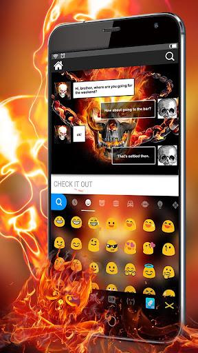 Fireskull Keyboard Theme 1.0 screenshots 2