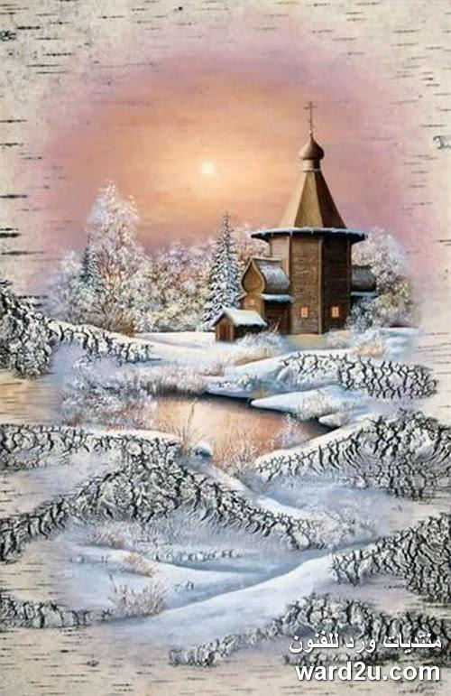 لوحات فنية نادرة و رائعة على لحاء الاشجار Sergey Surin