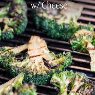 Grilled Garlic Broccoli with Cheddar Cheese.