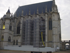 Photo: Also under renovation is the Chapelle Royale, a Gothic church modeled on Sainte Chapelle.