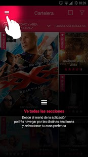 Cinemex: miniatura de captura de pantalla