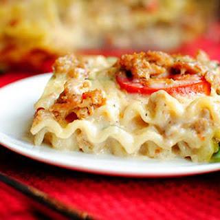 Caprese Lasagna with Spicy Turkey Sausage