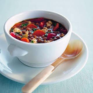 Slow-simmered Split Pea Soup.