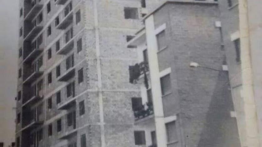Imagen del edificio Azorín en construcción cedida por el periodista José Ángel Pérez