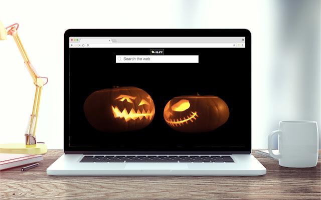 Halloween Pumpkin New Tab Theme