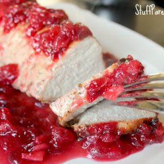 Smithfield Pork Tenderloin with Cranberry Sauce