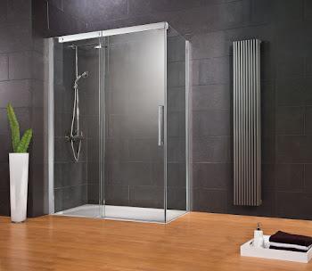 Porte de douche coulissante avec paroi latérale, Manhattan