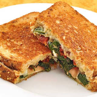 Spinach and Prosciutto Stuffed Grilled Cheese.