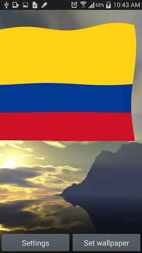 Colombia Flag Live Wallpaper.