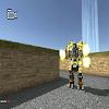 Combat acier robot en acier