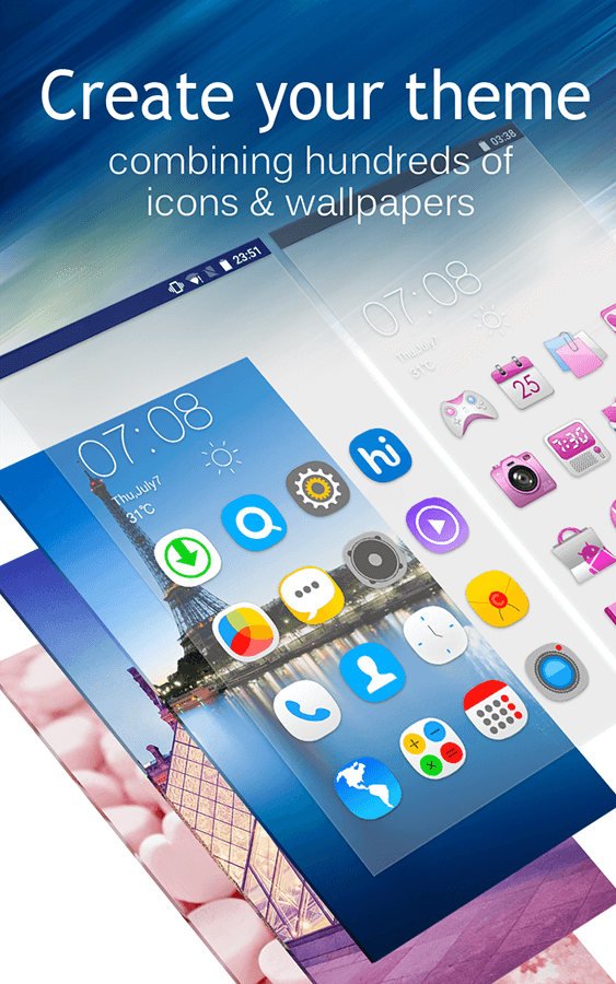 C launcher themes wallpapers diy smart clean for Wallpaper home launcher