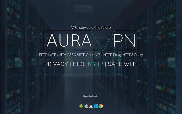auraVPN SSL chrome extension