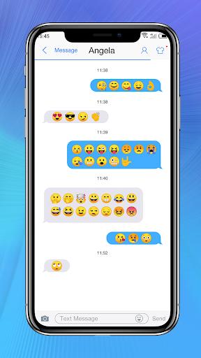 Messaging+ OS11 Cute Emoji 2.8 screenshots 4
