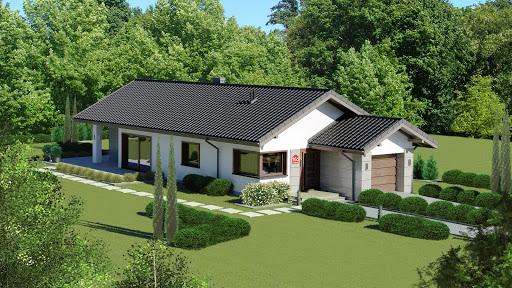projekt Dom przy Pastelowej 16 D