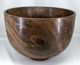 "Photo: Bob Grudberg 16"" x 11"" BOWL!  [walnut]"
