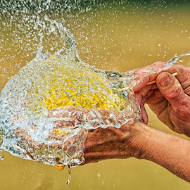 Pop Goes the Water Balloon - 3686 by Twin Wranglers Baker - Abstract Water Drops & Splashes (  )