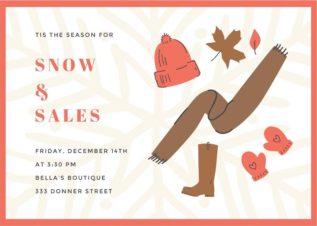 Snow & Sales - Card Template