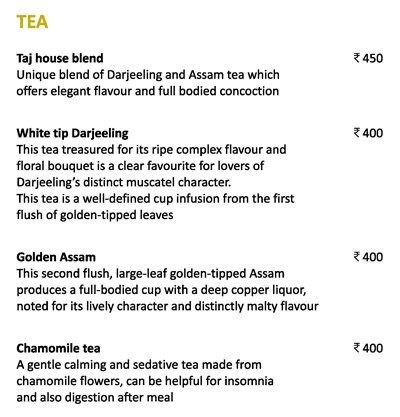 Golden Dragon - The Taj Mahal Palace menu 3