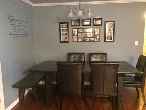 Photo: Rustic Notch Dining Table and Bench