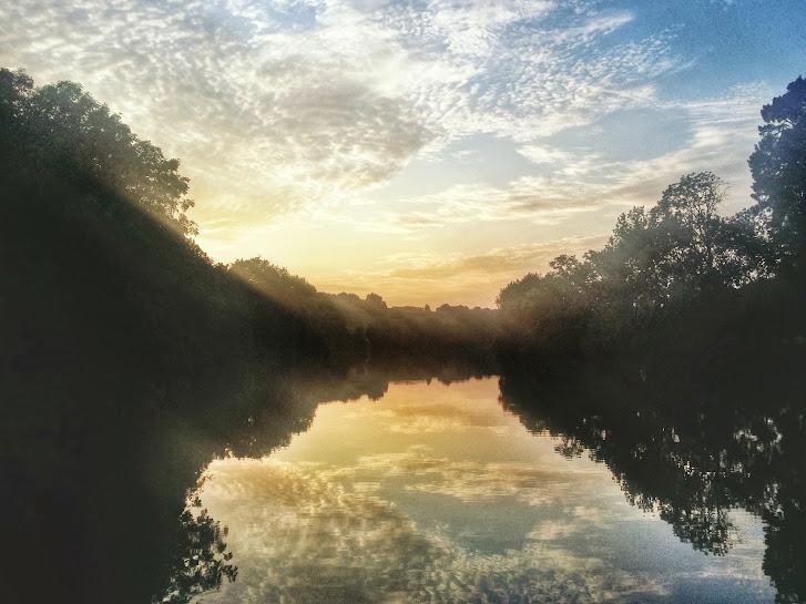 Sunset along the Mayenne River.