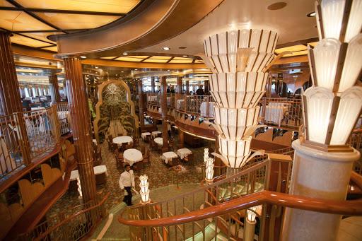 Queen-Elizabeth-Britannia-Dining-Room - The sumptuous Britannia Dining Room aboard Queen Elizabeth.