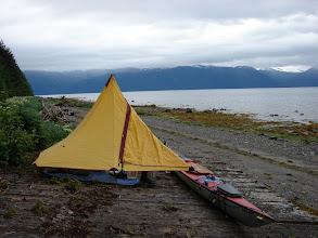 Photo: My campsite on Mitkof Island in Frederick Sound.