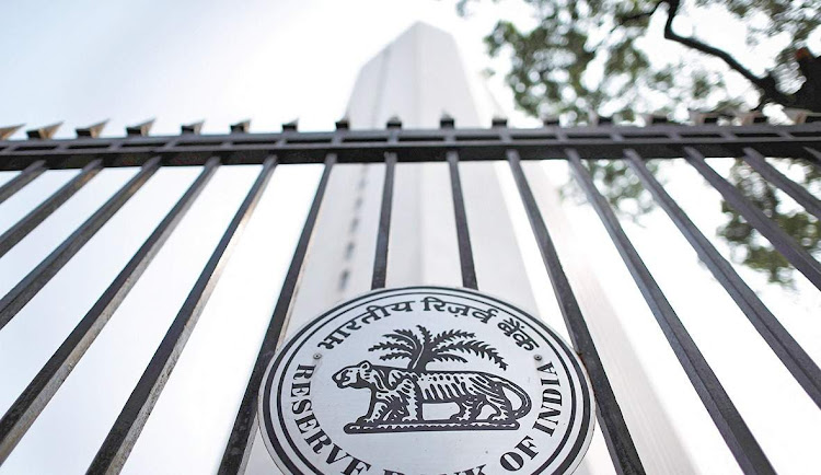 The Reserve Bank of India logo is pictured outside its head office in Mumbai. Picture: REUTERS