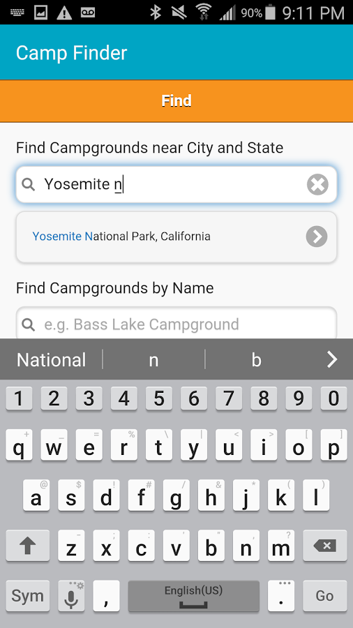Camp Finder - Campgrounds- screenshot
