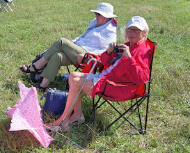Photo: There was enough breeze to keep us comfortable, but apparently too much for Sherry's pink parasol.