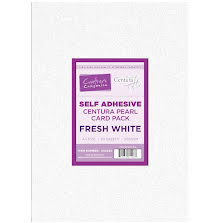 Crafters Companion Luxury Centura Pearl A4 Card Pack 20/Pkg - Fresh White